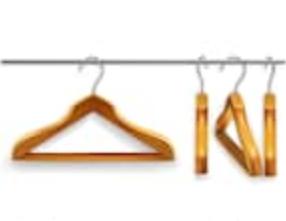 Penderies pour que vos vêtements soient posés sur cintres