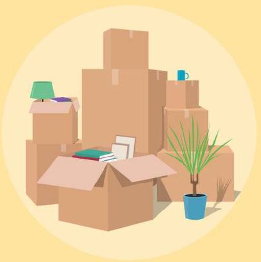 La vente et fourniture de cartons et de matériel d'emballage