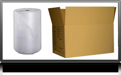 Carton, Papier bulle emballage déménagement