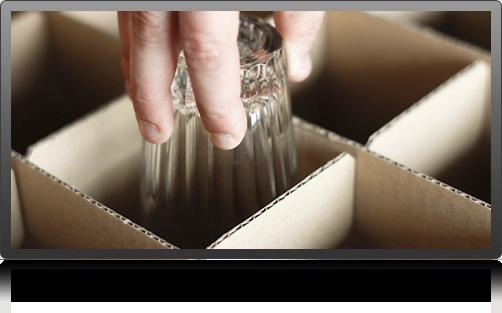 Emballage verrerie Déménagement Guillaume